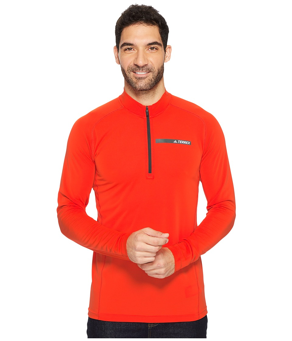 adidas Outdoor Terrex Tracerocker 1/2 Zip Top (Energy) Men