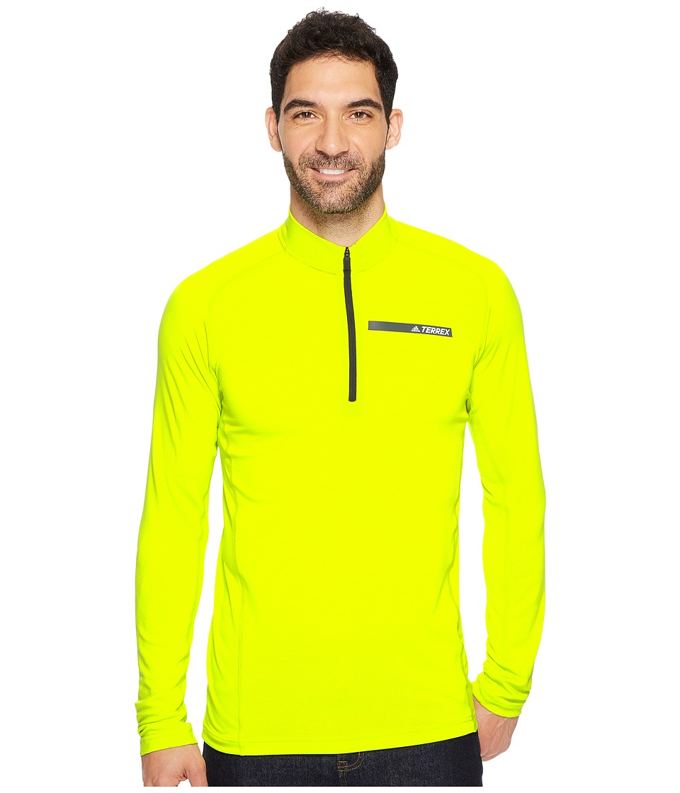 adidas Outdoor Terrex Tracerocker 1/2 Zip Top (Semi Solar Yellow) Men