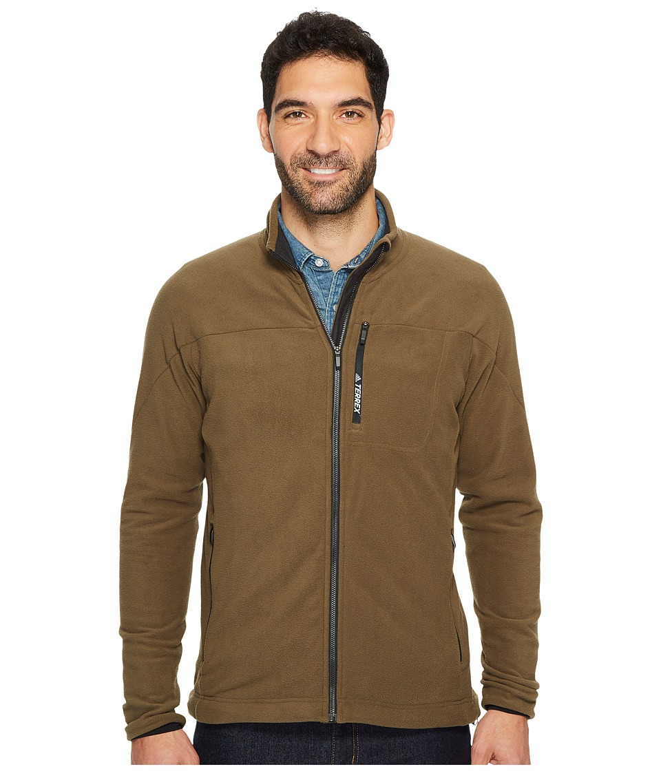 adidas Outdoor Terrex Tivid Fleece Jacket (Trace Olive) Men