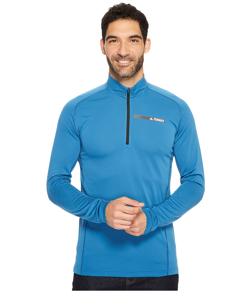 adidas Outdoor Terrex Tracerocker 1/2 Zip Top (Core Blue) Men