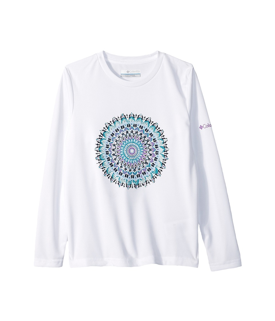 Columbia Kids - Auroras Lights Long Sleeve Tee (Little Kids/Big Kids) (White) Girls T Shirt