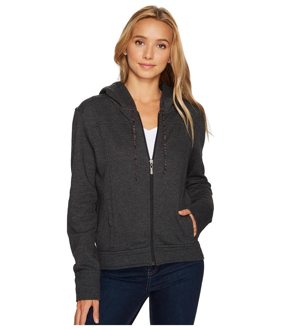 Prana Ari Zip-Up Fleece Jacket (Black) Women