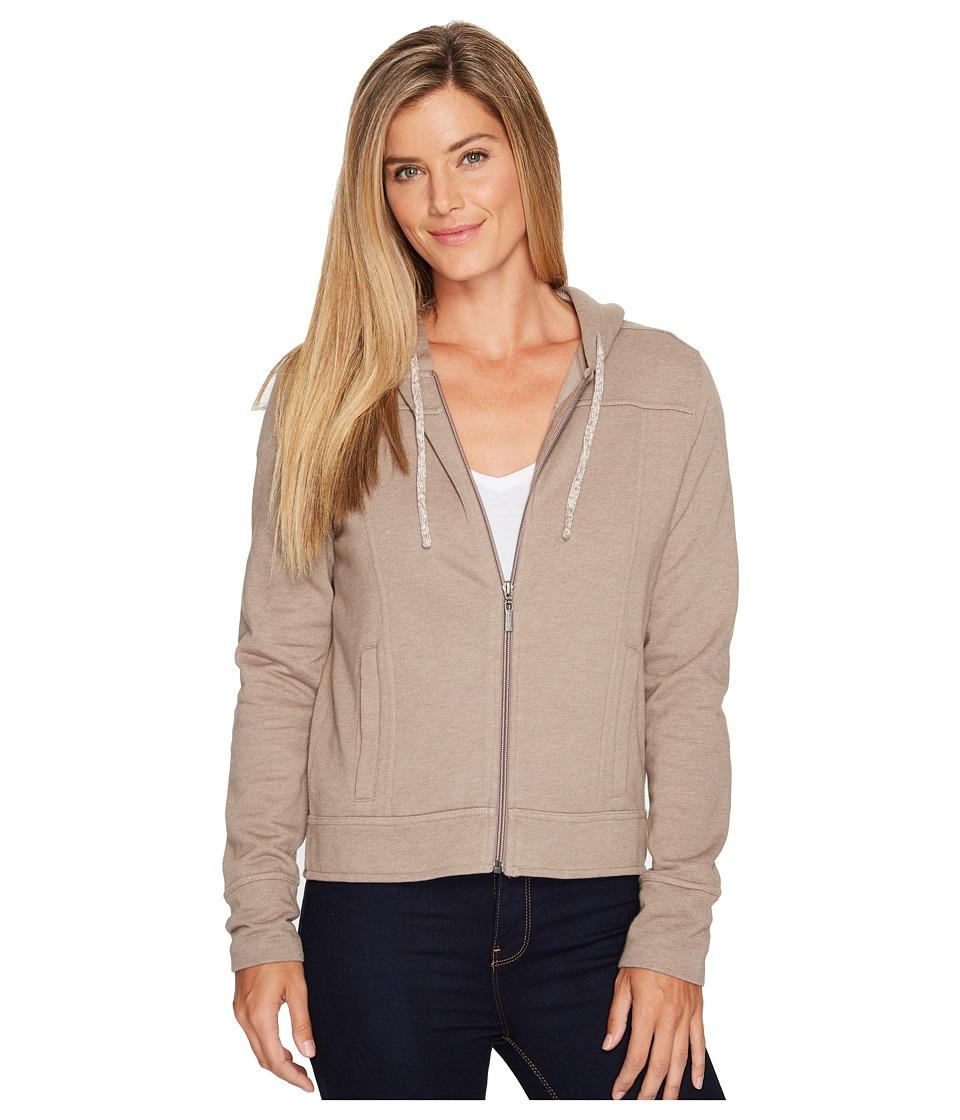 Prana Ari Zip-Up Fleece Jacket (Earth Grey) Women