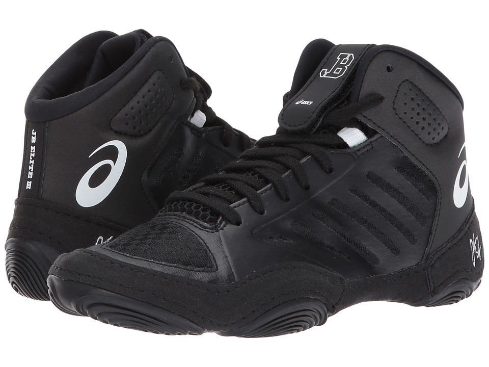 ASICS Kids JB Elite V3.0 GS (Little Kid/Big Kid) (Black/White) Boys Shoes