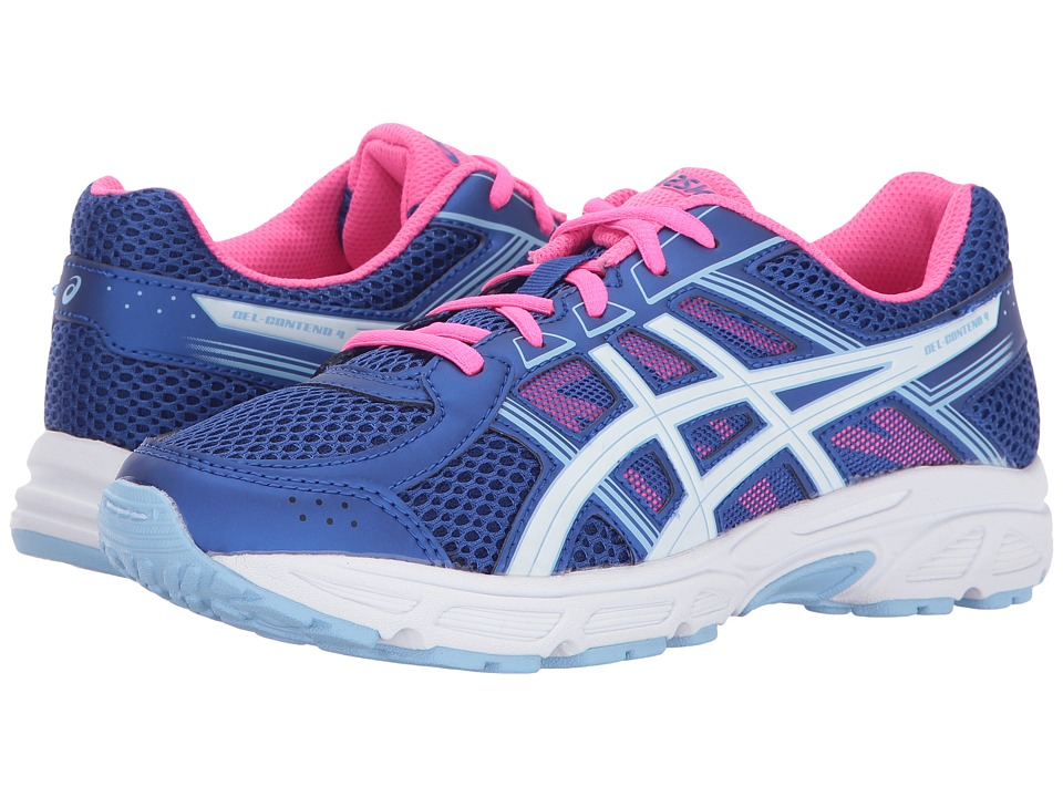 ASICS Kids - GEL-Contend 4 GS (Little Kid/Big Kid) (Blue Purple/White/Airy Blue) Girls Shoes