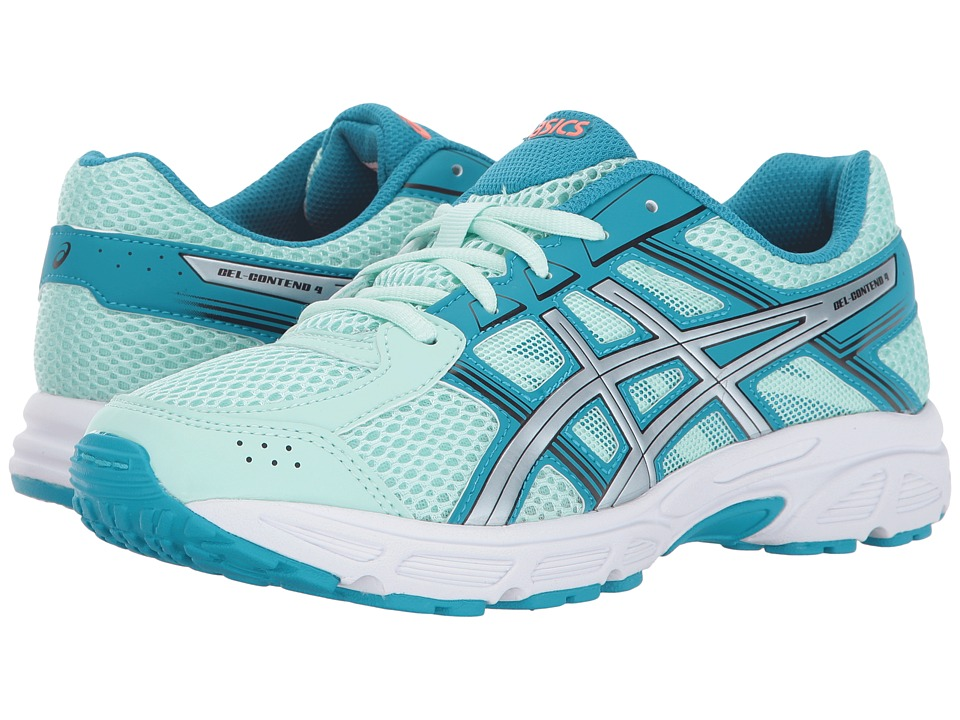 Image of ASICS Kids - GEL-Contend 4 GS (Little Kid/Big Kid) (Glacier Sea/Silver/Aqua) Girls Shoes
