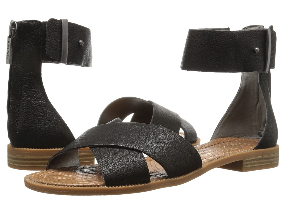 Nine West - Xen (Black Leather) Womens Sandals