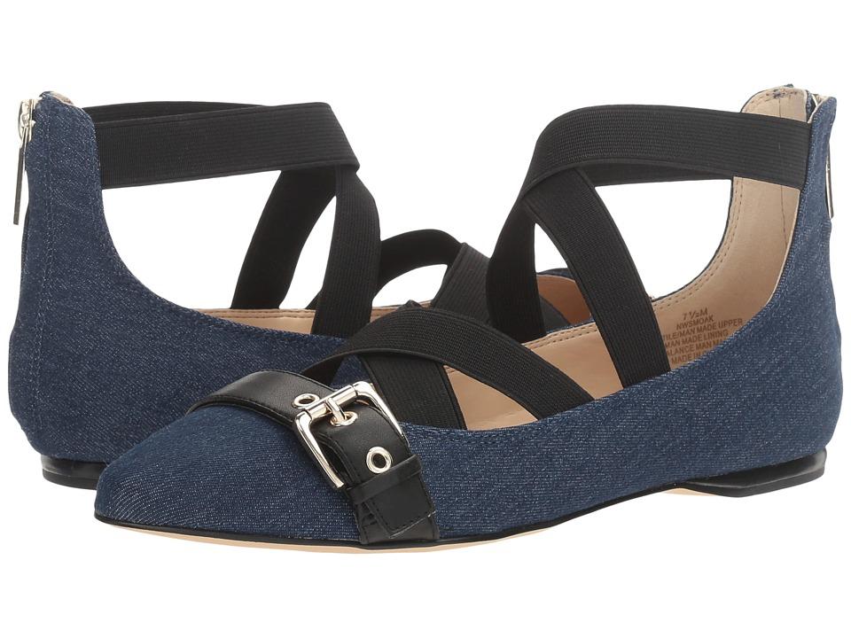 Nine West - Smoak 2 (Blue Multi Denim) Women's Flat Shoes -  adult