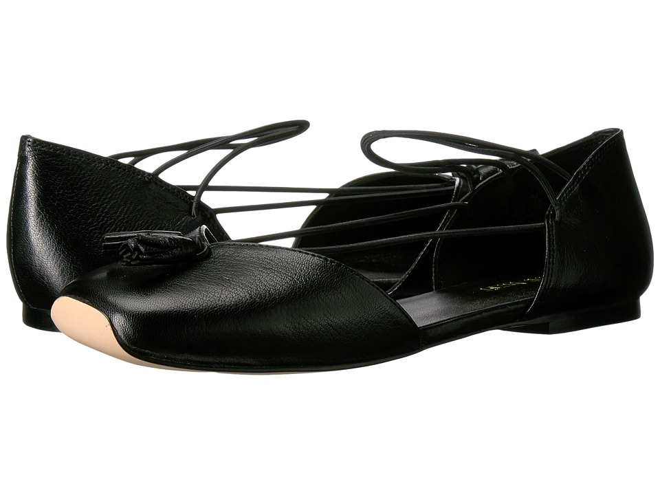 Nine West - Zaina (Black Leather) Women's Flat Shoes -  adult
