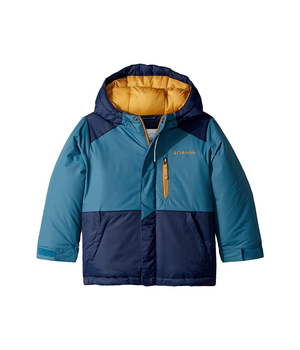 Columbia Kids - Lightning Lifttm Jacket (Toddler) (Blue Heron/Collegiate Navy/Maple) Boys Coat