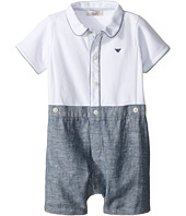 Armani Junior - Polo Top/Chambray Bottom Shortie (Infant)