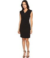 Tahari by ASL - Side Tie V-Neck Sheath Dress