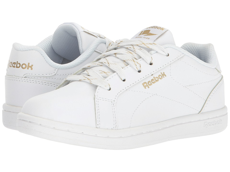 Reebok Kids Royal Complete CLN (Little Kid/Big Kid) (White/Gold Metallic) Kids Shoes