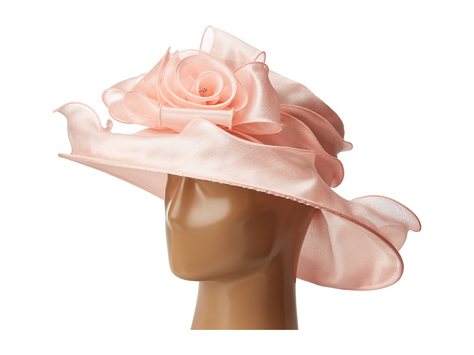 Edwardian Style Hats, Titanic Hats, Derby Hats Betmar - Edna Light Coral Caps $55.00 AT vintagedancer.com