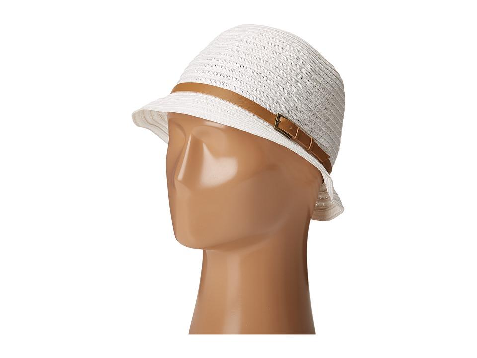 1920s Style Hats Betmar - Alexia White Caps $30.99 AT vintagedancer.com