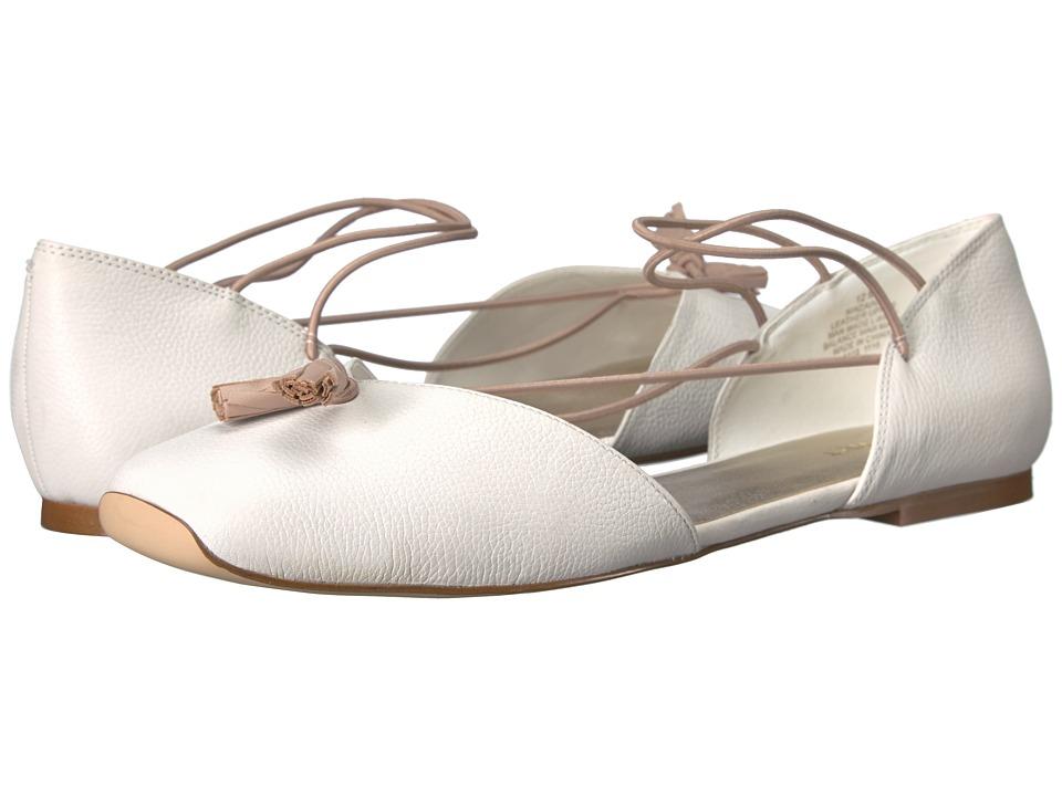 Nine West - Zaina (White Leather) Women's Flat Shoes -  adult