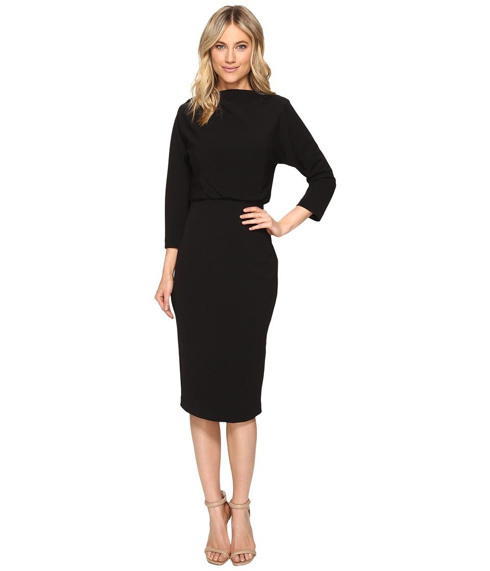 Badgley Mischka Boatneck Dress (Black 1) Women