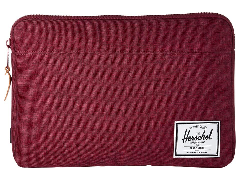Herschel Supply Co. Anchor Sleeve 13 (Winetasting Crosshatch) Computer Bags