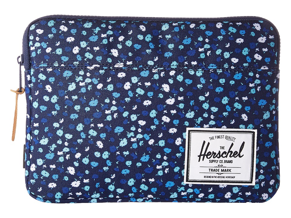 Herschel Supply Co. Anchor Sleeve for iPad Air (Peacoat Mini Floral) Computer Bags