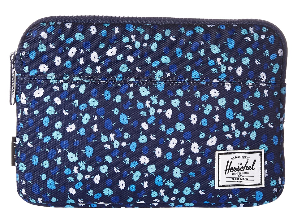 Herschel Supply Co. Anchor Sleeve for iPad Mini (Peacoat Mini Floral) Computer Bags
