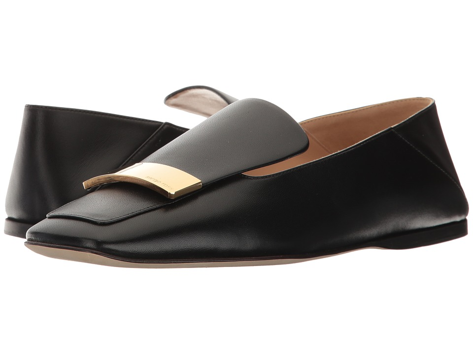 Sergio Rossi - A77990-MAGN05 (Black Leather) Womens Shoes