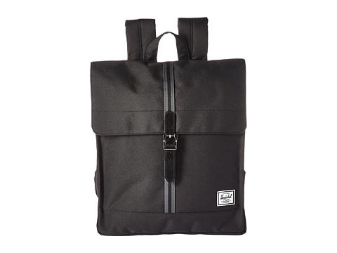 Herschel Supply Co. City - Black/Dark Shadow/Black Veggie Tan Leather