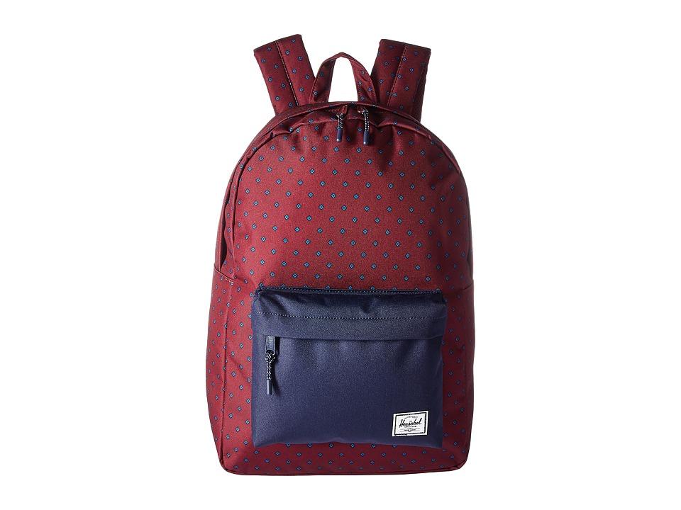 Herschel Supply Co. Classic (University Windsor Wine/Peacoat) Backpack Bags