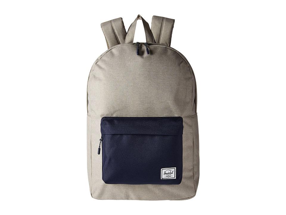 Herschel Supply Co. Classic (Light Khaki Crosshatch/Peacoat) Backpack Bags