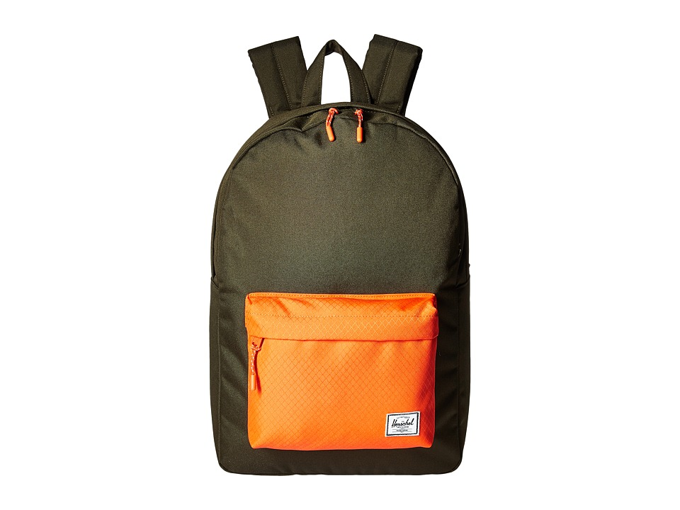 Herschel Supply Co. Classic (Forest Night/Vermillion Orange) Backpack Bags