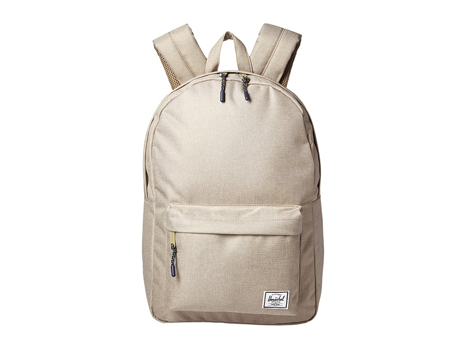 Herschel Supply Co. Classic Mid-Volume (Light Khaki Crosshatch) Backpack Bags