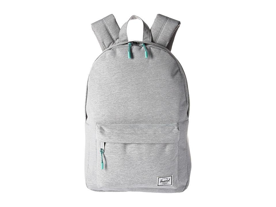 Herschel Supply Co. Classic Mid-Volume (Light Grey Crosshatch/Lucite Green Zip) Backpack Bags