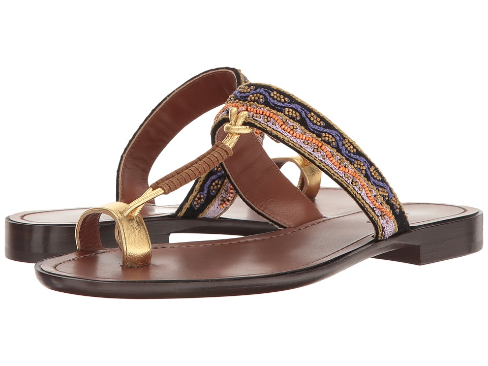 Etro Toe Ring Sandal (Brown) Women