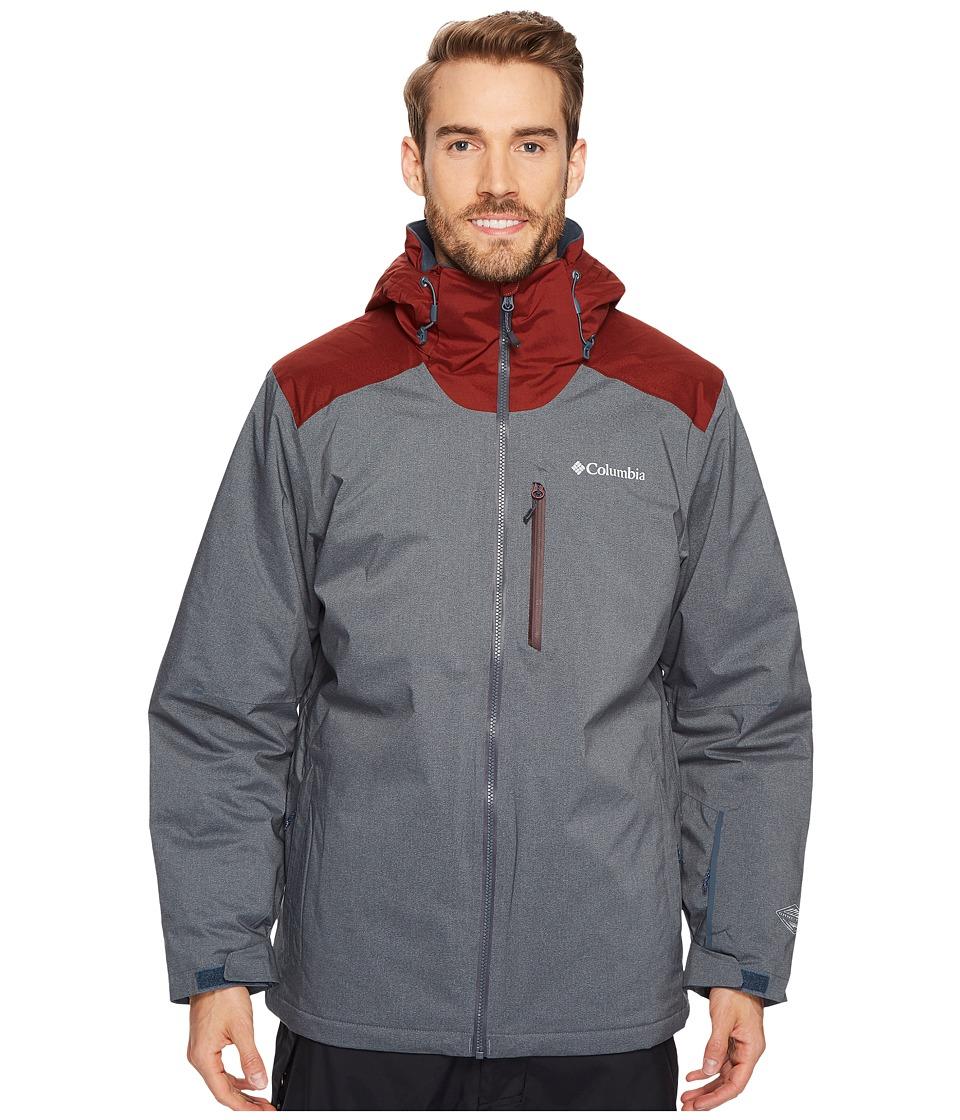 Columbia Lost Peak Jacket (Mystery Heather/Deep Rust/Hot Pepper) Men