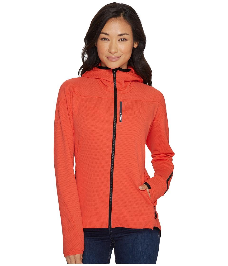 adidas Outdoor Terrex Radical Fleece Jacket (Easy Coral) Women