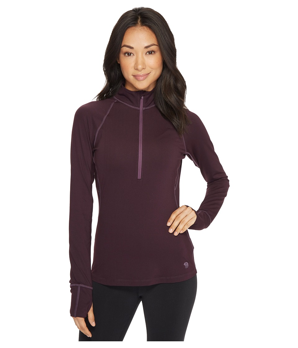 Mountain Hardwear Butterlicioustm Long Sleeve 1/2 Zip Top (Dark Tannin) Women