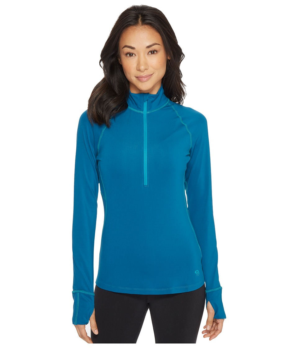Mountain Hardwear Butterlicioustm Long Sleeve 1/2 Zip Top (Dark River) Women