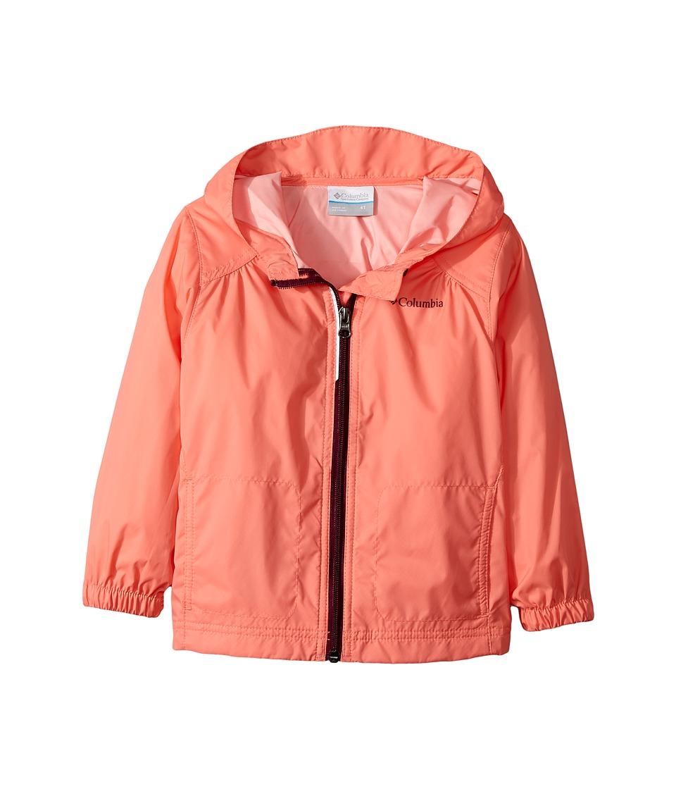 Columbia Kids Switchbacktm Rain Jacket (Toddler) (Hot Coral/Dark Raspberry) Girl