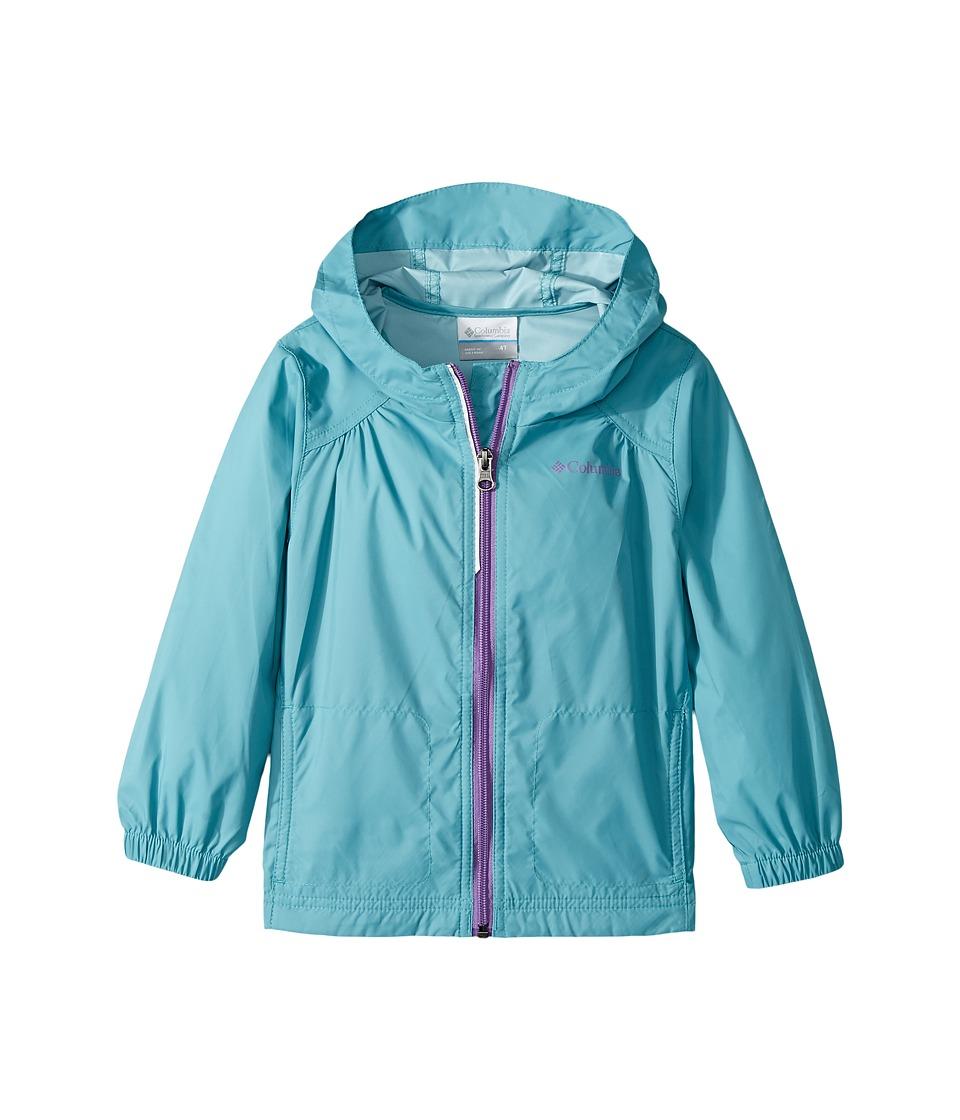 Columbia Kids Switchbacktm Rain Jacket (Toddler) (Pacific Rim/Crown Jewel) Girl