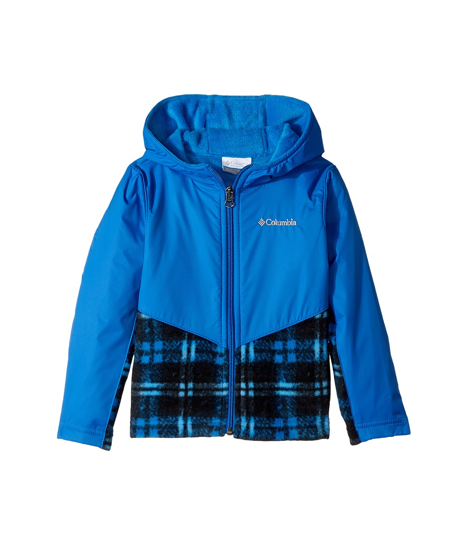 Columbia Kids - Steens Mttm Overlay Hoodie (Toddler) (Super Blue Lumberjack Plaid/Super Blue) Kids Sweatshirt