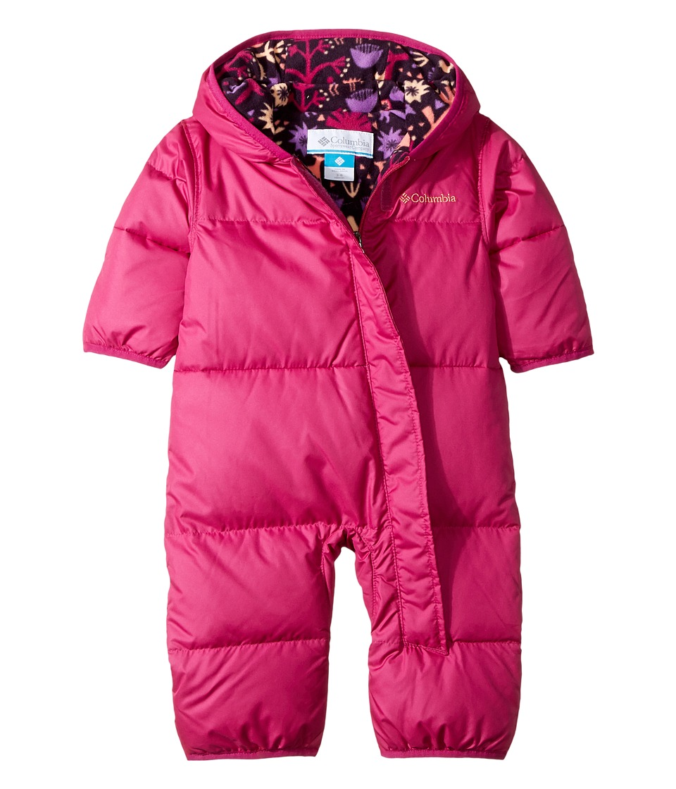 Columbia Kids - Snuggly Bunnytm Bunting (Infant) (Deep Blush/Deep Blush Critters Print) Kids Jumpsuit & Rompers One Piece