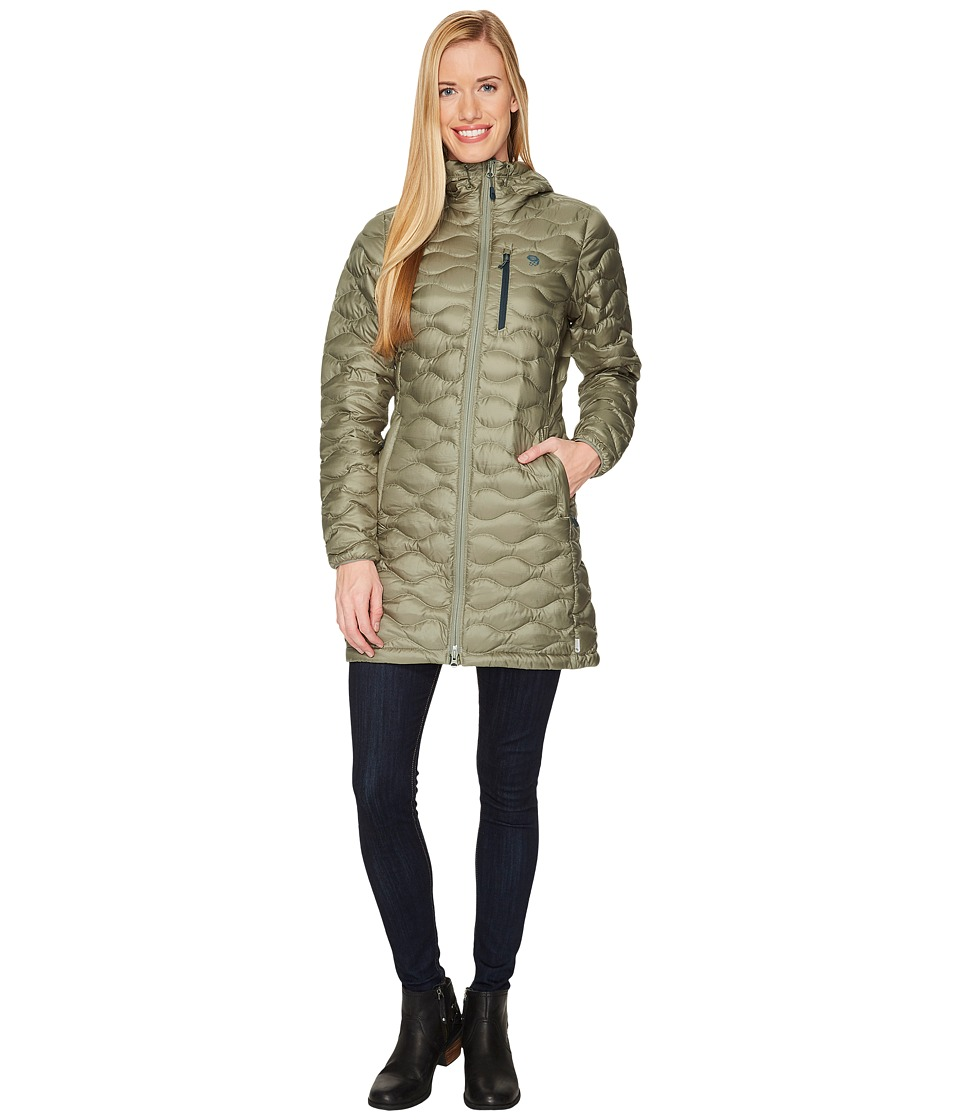 Mountain Hardwear Nitrous Hooded Down Parka (Green Fade) Women