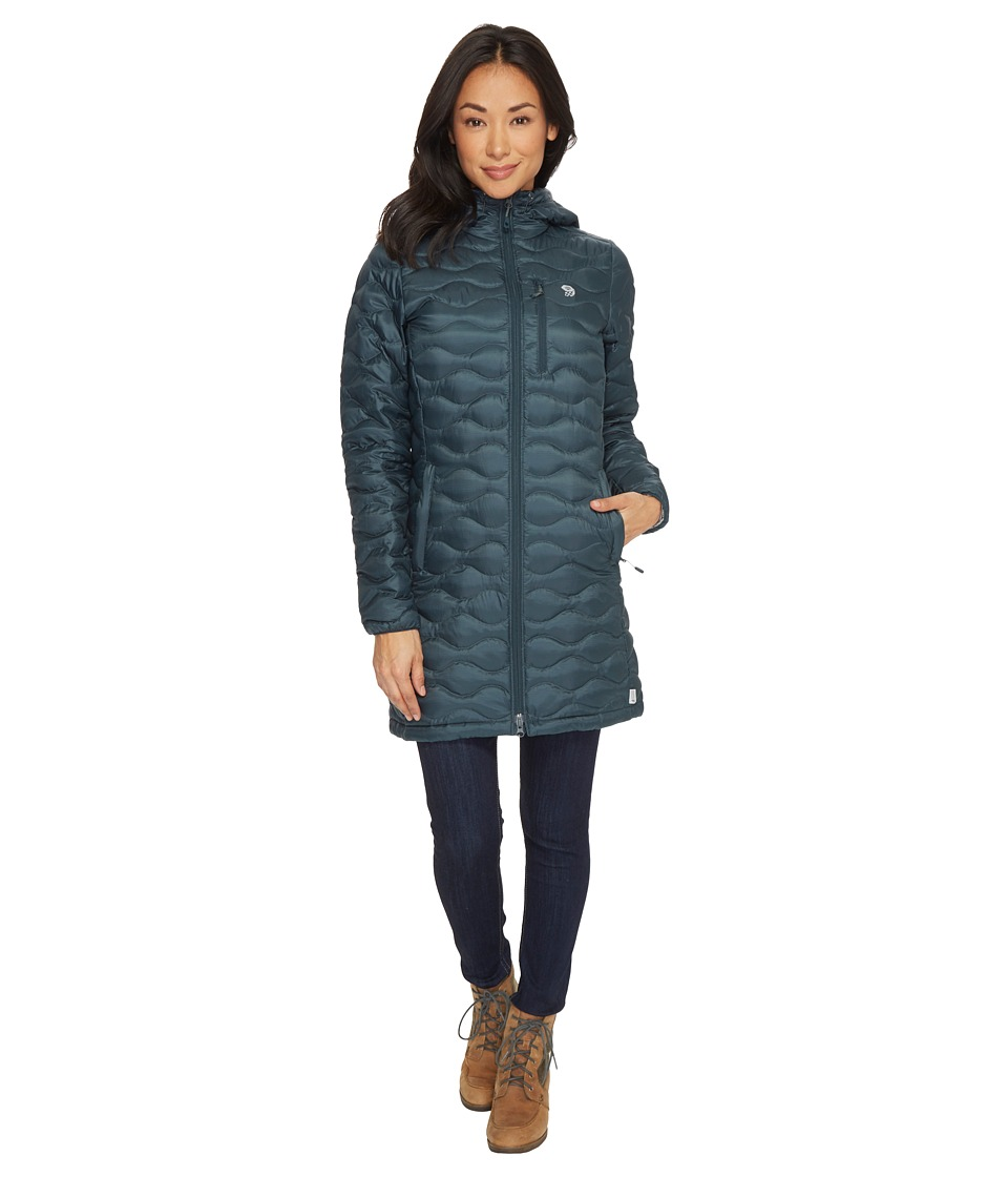 Mountain Hardwear Nitrous Hooded Down Parka (Blue Spruce) Women