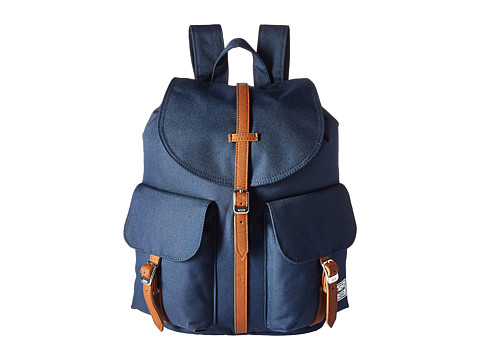 Herschel Supply Co. Dawson X-Small - Navy/Tan Synthetic Leather
