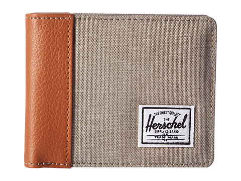 Herschel Supply Co. Edward RFID - Light Khaki Crosshatch/Tan Synthetic Leather