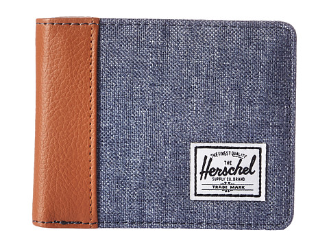 Herschel Supply Co. Edward RFID - Dark Chambray Crosshatch/Tan Synthetic Leather