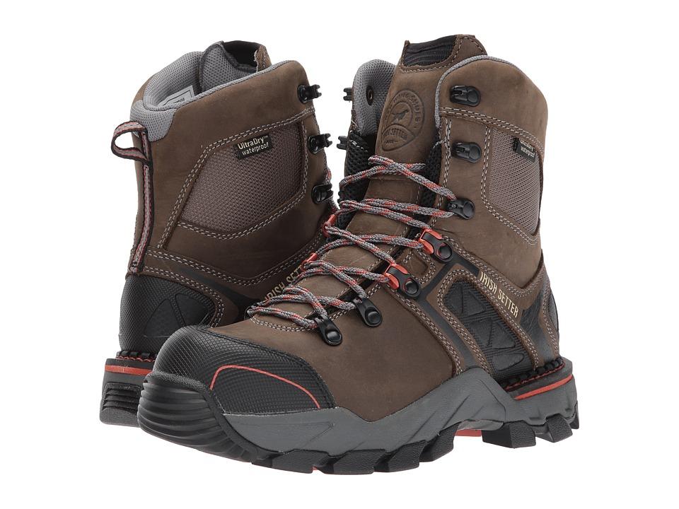 Irish Setter Crosby 83618 (Black/Gray) Women's Work Boots
