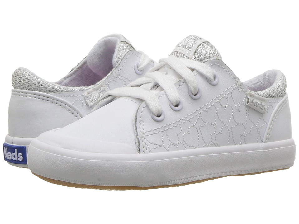 Keds Kids Courtney (Toddler/Little Kid) (White) Girl's Shoes