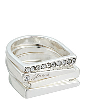 GUESS - 4 Piece Flat Top Bands Ring Set