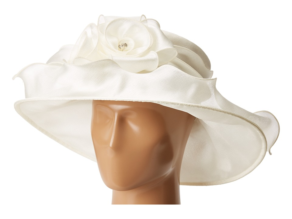 Retro Vintage Style Hats Betmar - Edna Cream Caps $55.00 AT vintagedancer.com
