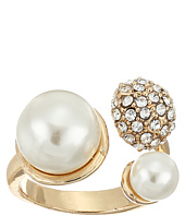 GUESS - Pearl and Pave Ball Bypass Ring